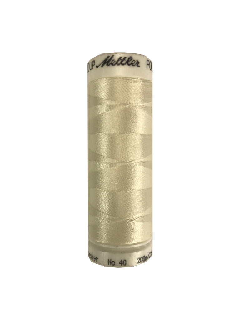 Mettler Poly Sheen Thread Colour 0101 Eggshell