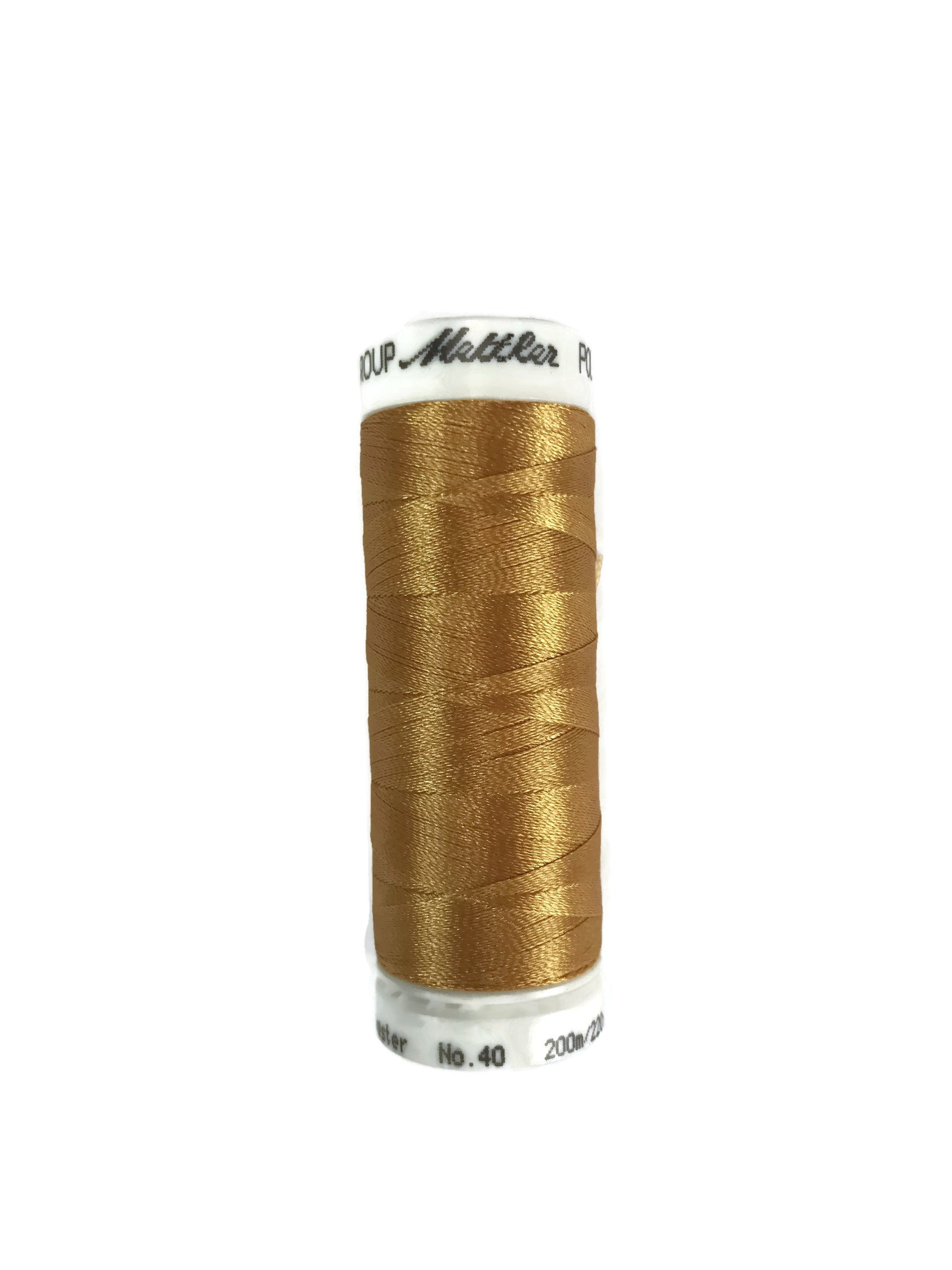 Mettler Poly Sheen Thread Colour 0821 Honey Gold