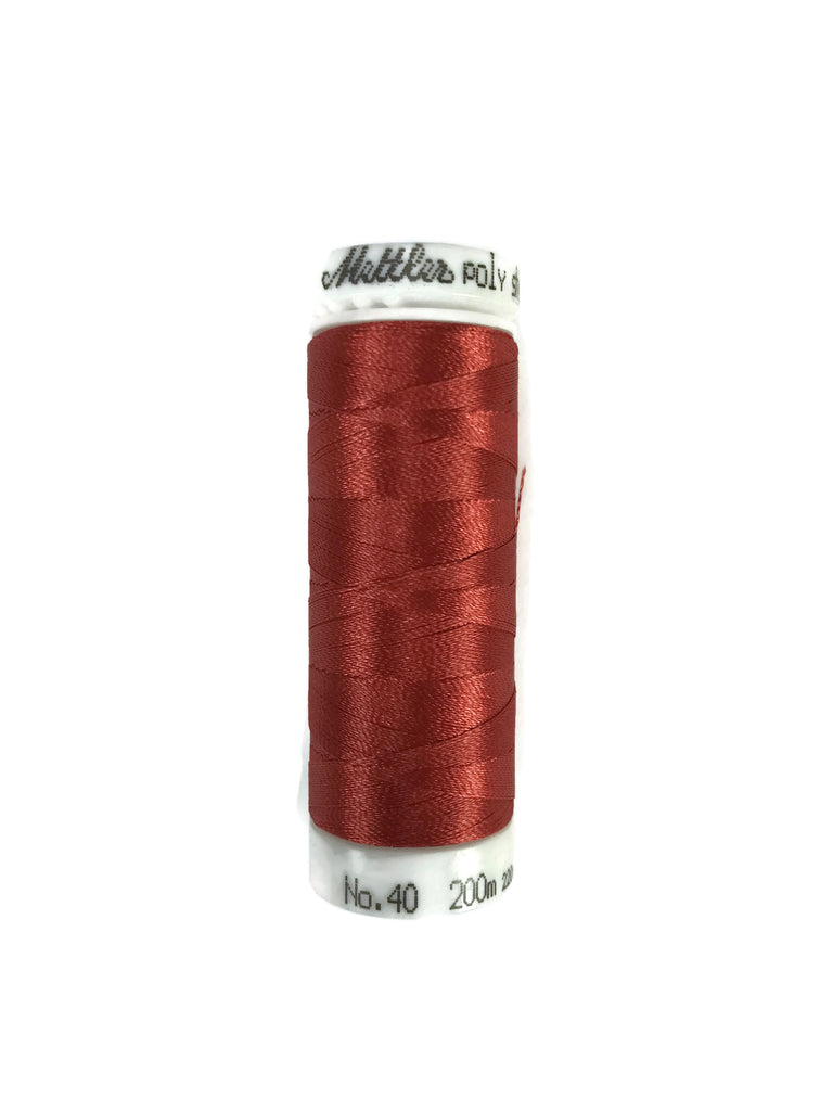 Mettler Poly Sheen Thread Colour 1335 Dark Rust