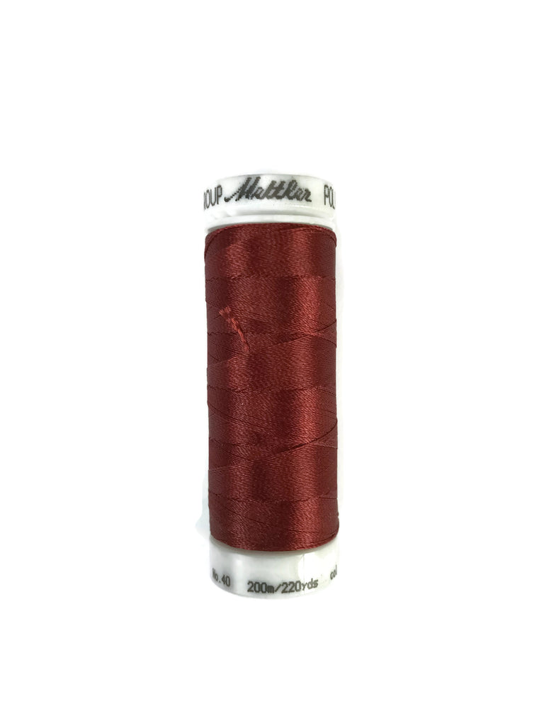 Mettler Poly Sheen Thread Colour 1514 Brick