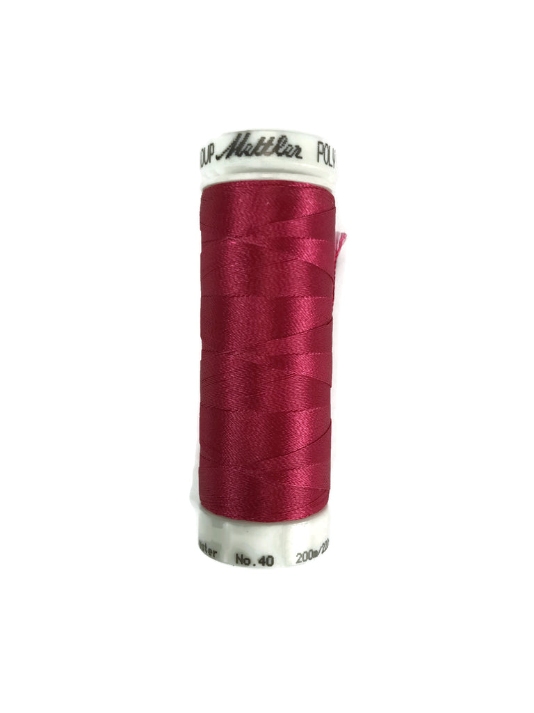 Mettler Poly Sheen Thread Colour 2300 Bright Ruby