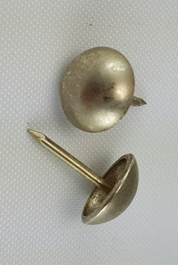 "(Brushed Nickel) 7/16"" Decorative Upholstery Tacks, Round Head (1000)"