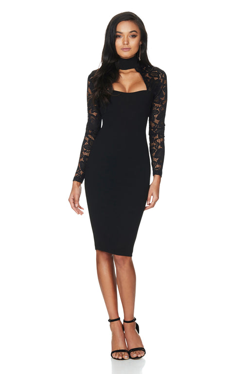 Nookie Lady Lace Long Sleeve in Black