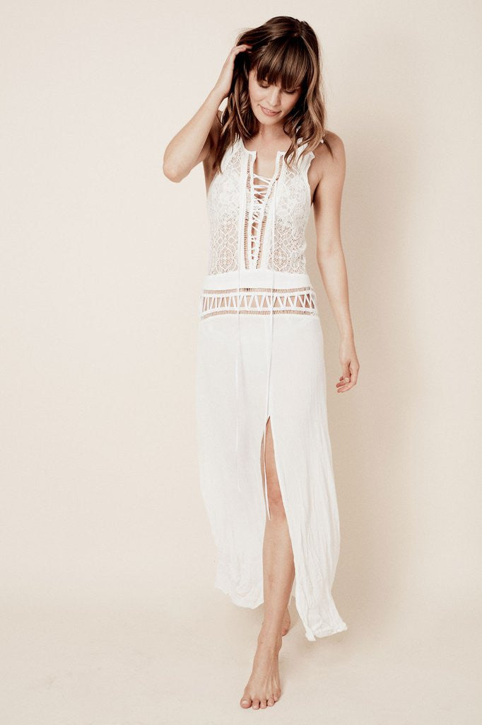 For Love & Lemons Martinique Maxi Dress | White