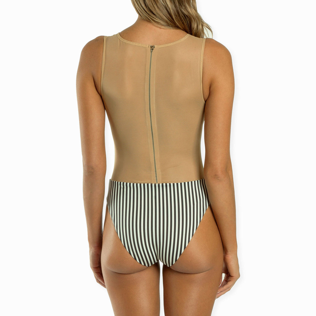 Prude Jude Mesh One Piece | 1942 Vintage Stripe