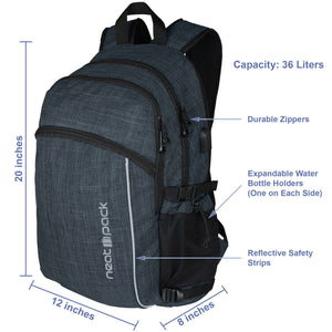 Laptop Backpack - Black