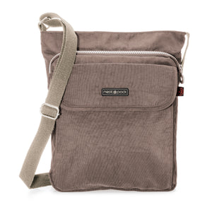 Unisex RFID Nylon Crossbody Shoulder Bag - Grey