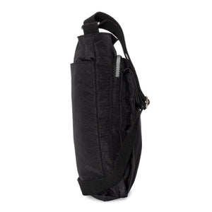 Unisex RFID Nylon Crossbody Shoulder Bag - Black