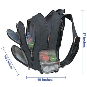 Baby Diaper Backpack - Black