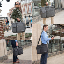 Laptop Computer Briefcase Bag - Grey