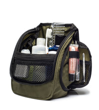 Compact Hanging Toiletry Bag & Organizer Water Resistant with Mesh Pockets and Sturdy Hook - Green