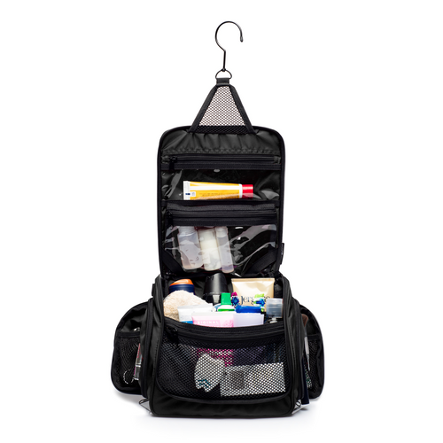 Medium Sized Toiletry Bag - Black