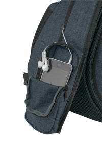 Versatile Canvas Sling Bag Backpack with RFID Security Pocket and Multi Compartments - Black