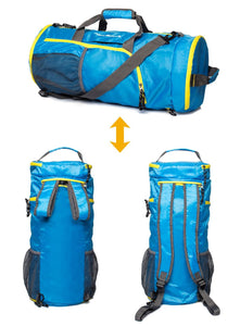 Foldable Duffle Bag Blue