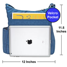 Crossbody Bag for Women with Anti Theft RFID Pocket - Blue