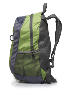 Foldable Nylon Backpack/Daypack with Security Zippers, 20L, Green