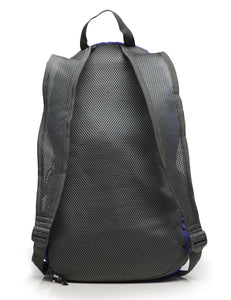 Foldable Nylon Backpack/Daypack with Security Zippers, 20L, Navy Blue