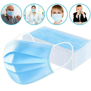 10 PCS Face Mask Medical Surgical Dental Disposable 3-Ply Ear-loop Mouth Cover
