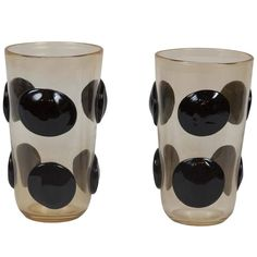 PAIR OF MURANO GLASS VASES BY CONSTANTINI
