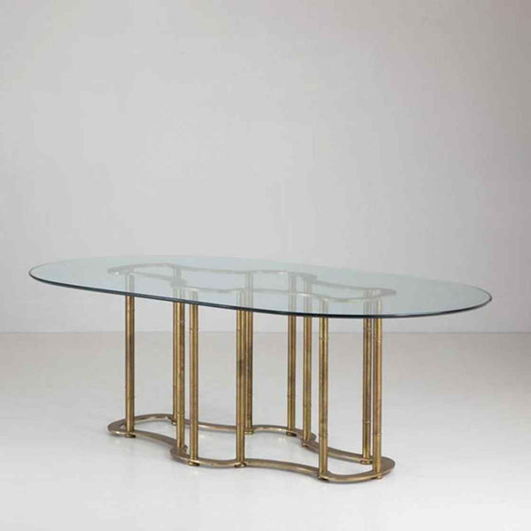 Mastercraft Brass and Glass Table