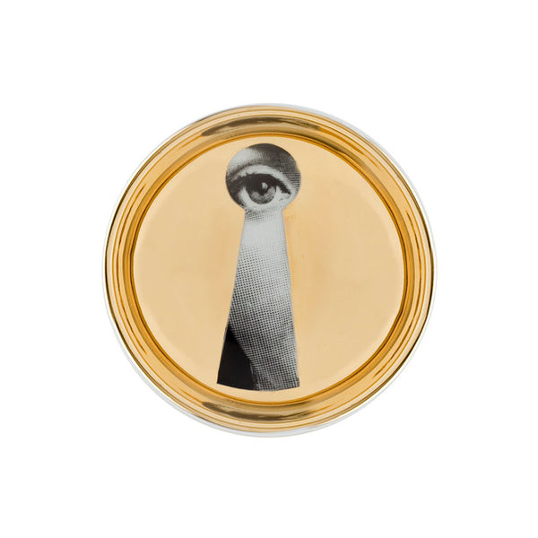 Fornasetti Small Round Gold Leaf Tray