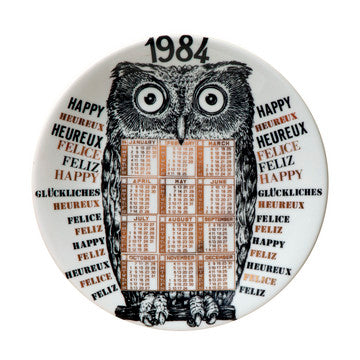 Fornasetti Vintage limited edition plate - 1984