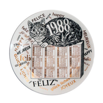Fornasetti Vintage limited edition plate - 1988
