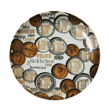 Fornasetti Vintage limited edition plate - 1989