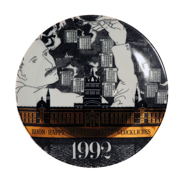Fornasetti Vintage limited edition plate - 1992