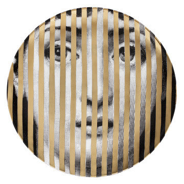 Fornasetti plate gold leaf #34