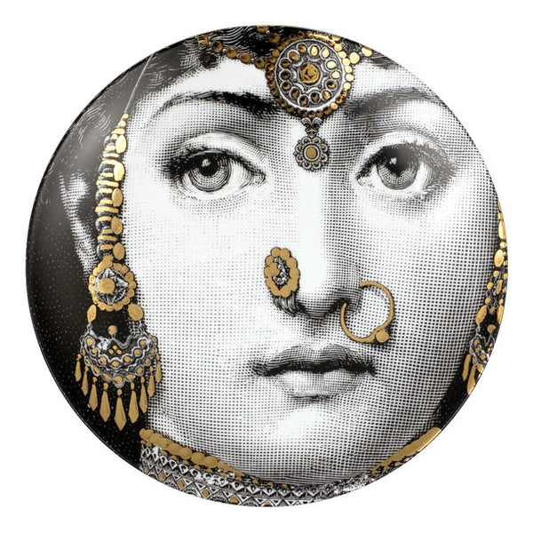 Fornasetti plate gold leaf #228