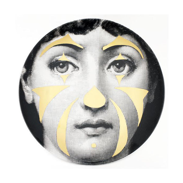 Fornasetti plate gold leaf #122