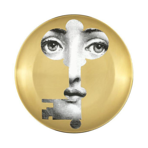 Fornasetti plate gold leaf #47