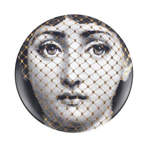 Fornasetti plate gold leaf #78