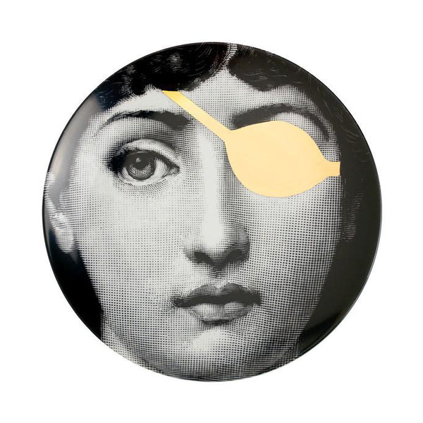 Fornasetti plate gold leaf #8