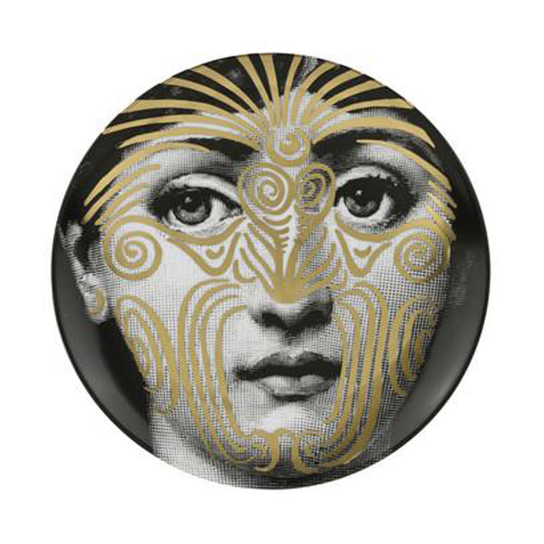 Fornasetti plate gold leaf #9