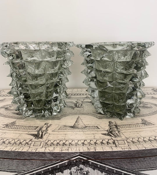 PAIR OF MURANO GLASS VASES BY COSTANTINI