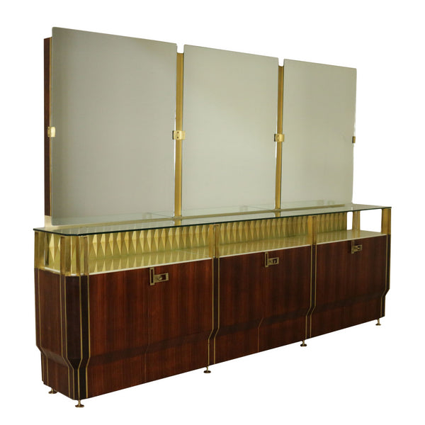 1950s Vittorio Dassi Buffet with Mirror