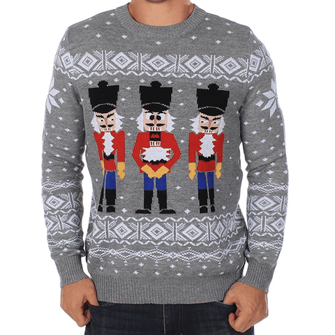 Three Nutcracker Ouch Ugly Christmas Sweater