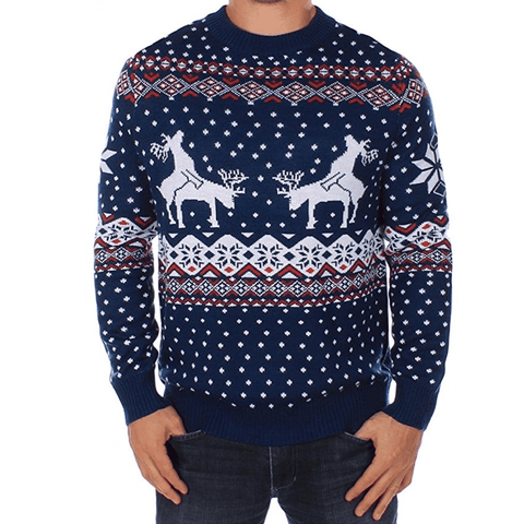Mating Reindeer Holiday Christmas Sweater