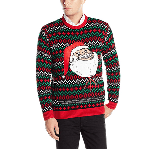 Big Head Santa Claus Christmas Sweater