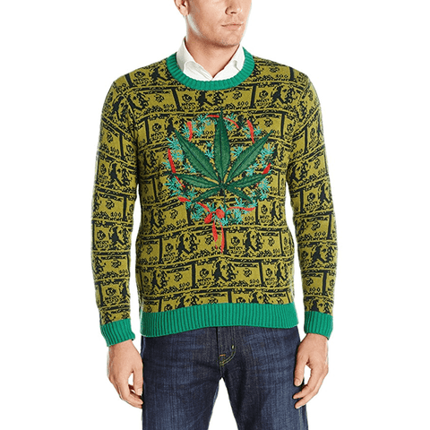 Cash and Grass Ugly Christmas Sweater