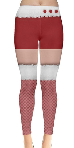 Mrs. Claus Christmas Leggings