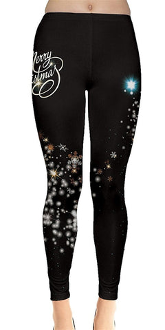 Fancy Snowflakes Christmas Leggings