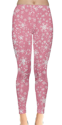 Frozen Pink Christmas Leggings