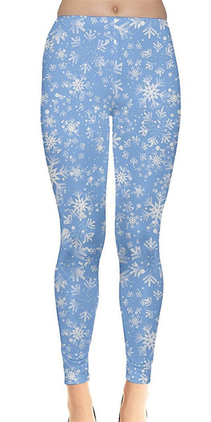 Frozen Blue Christmas Leggings