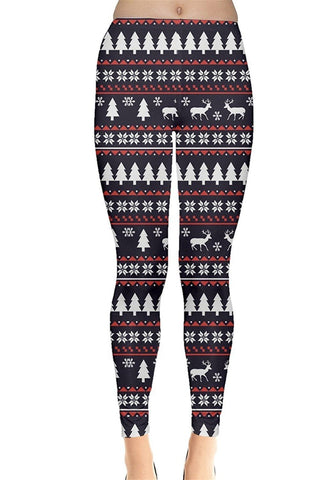Winter Reindeer Christmas Leggings