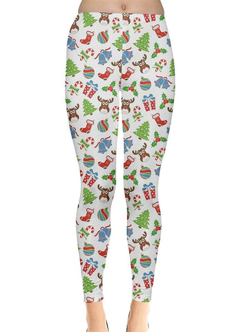 Rudolph Snow Christmas Leggings