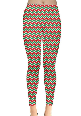 Merry Red & Green Christmas Leggings