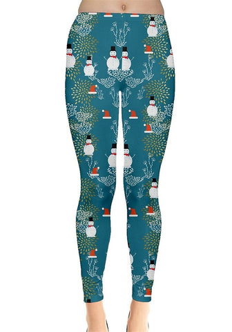 Mr. Snowman Christmas Leggings